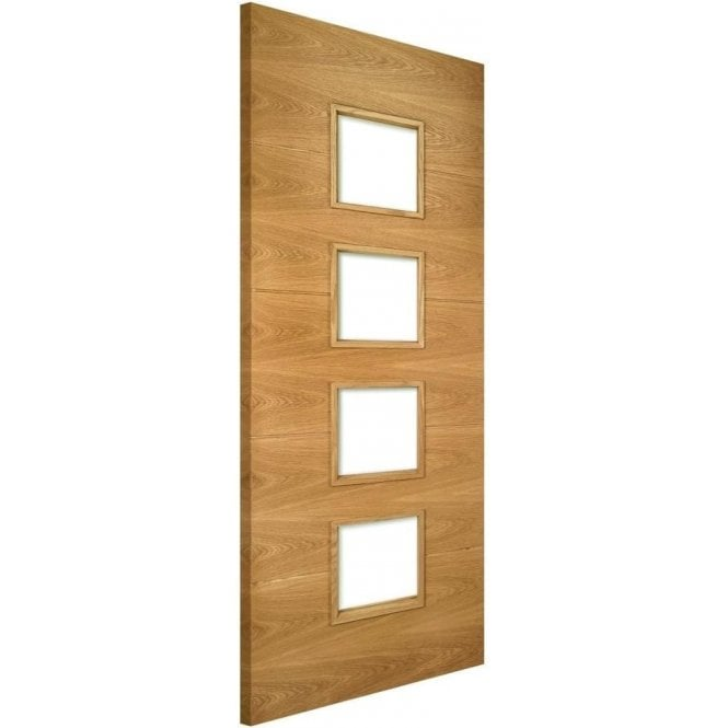 Deanta Augusta Pre-Finished 4L Unglazed Internal Oak FD30 Fire Door