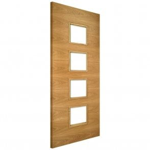 Augusta Pre-Finished 4L Unglazed Internal Oak FD30 Fire Door