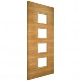 Augusta Unglazed Pre-Finished Internal Oak FD30 Fire Door