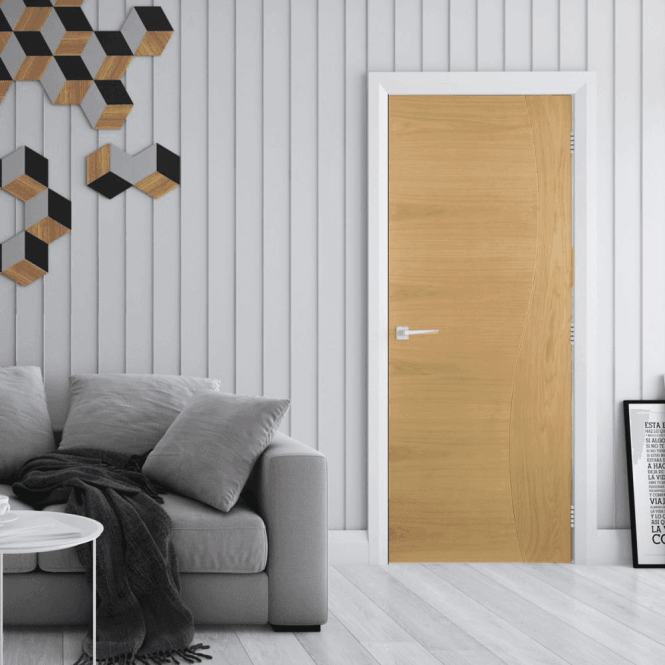 Deanta Cadiz Pre-Finished Internal Oak FD30 Fire Door