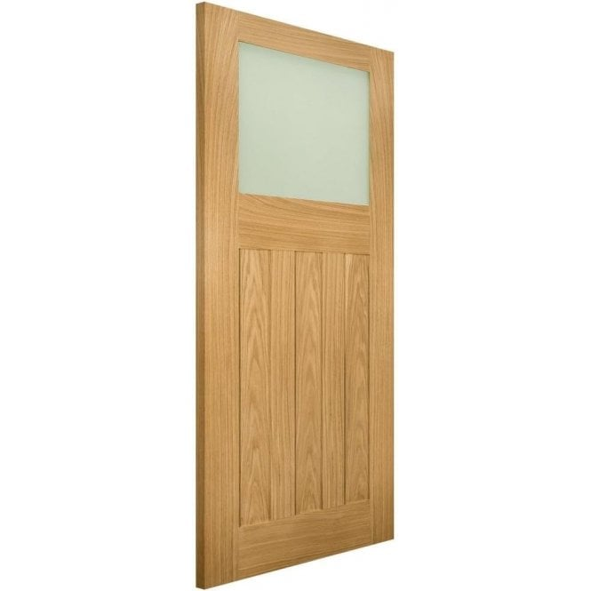 Deanta Cambridge Un-Finished Internal Oak Door with Obscure Glass