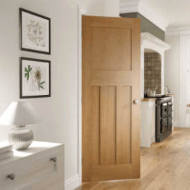 Cambridge Un-Finished Internal Oak FD30 Fire Door