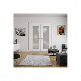 Denver Internal White Primed 1L Door with Obscure Glass