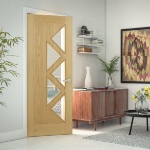 Ely Clear Glazed 5 Light Pre-Finished Internal Oak Door