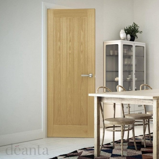 Deanta Ely Un-Finished Internal Oak FD30 Fire Door