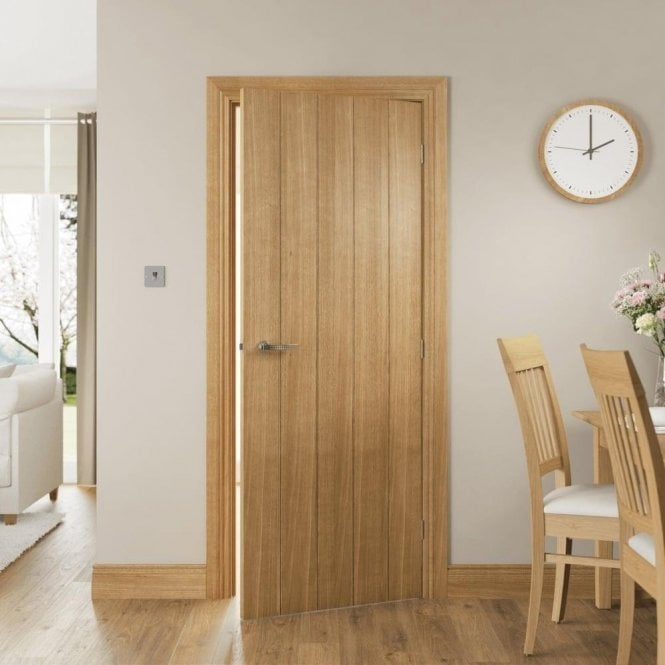 Deanta Galway Un-Finished Internal Oak FD30 Fire Door