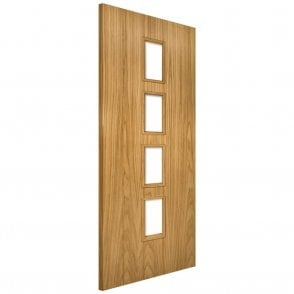 Galway Unglazed Un-Finished Internal Oak FD30 Fire Door