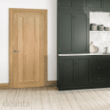 Deanta Norwich Un-Finished Internal Oak FD30 Fire Door