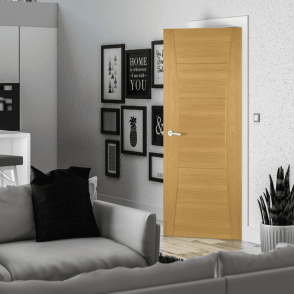 Pamplona Pre-Finished Internal Oak FD30 Fire Door