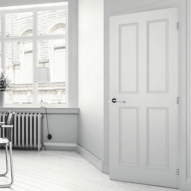 Deanta Rochester Internal White Primed Door