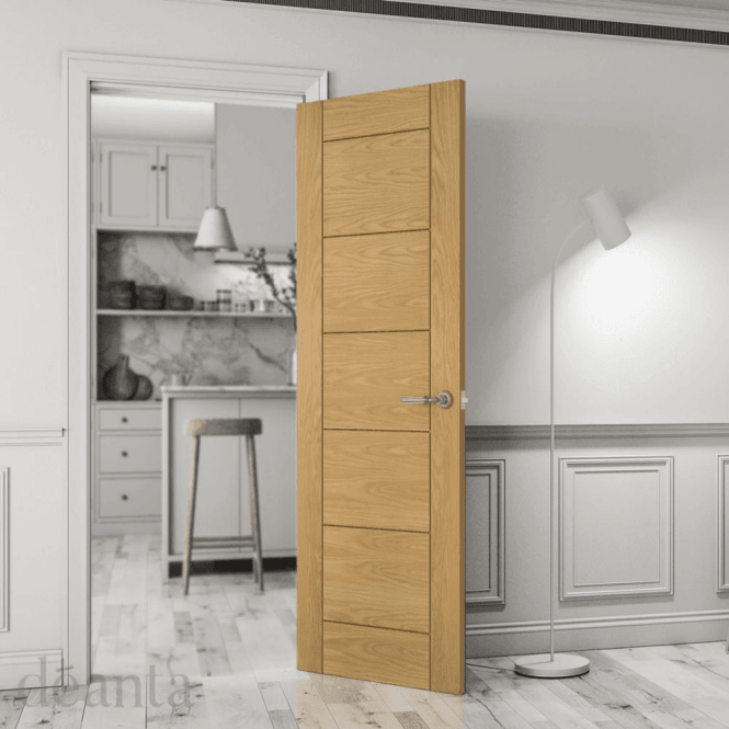 Deanta Seville Pre-Finished Internal Oak FD30 Fire Door