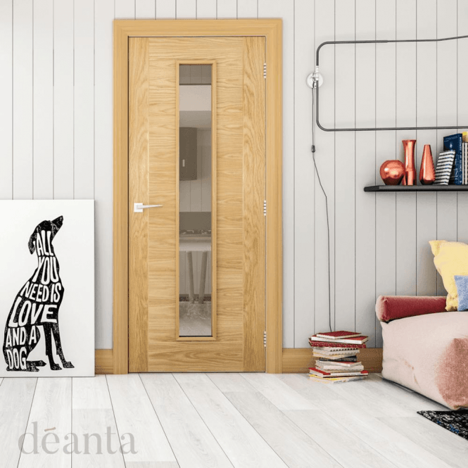 Deanta Seville Unglazed Pre-Finished Internal Oak Door