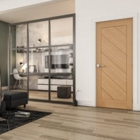 Torino Pre-Finished Internal Oak FD30 Fire Door