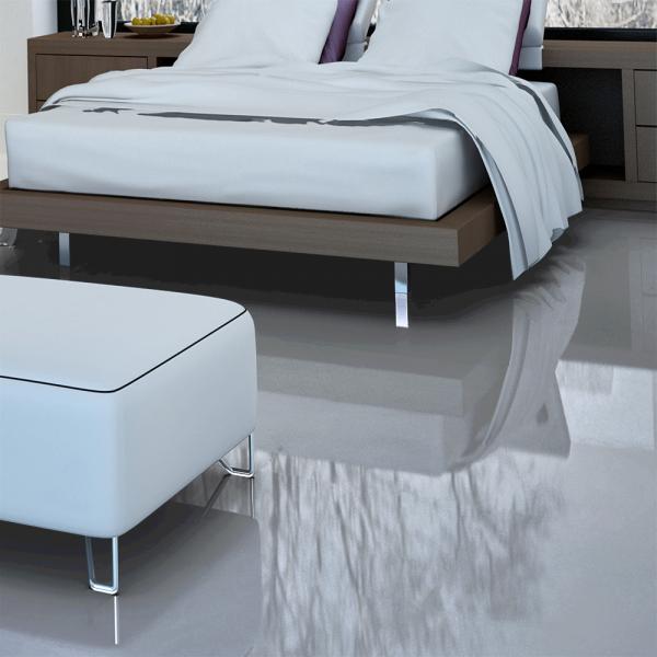 Falquon Flooring High Gloss Flat Edge Grey Laminate Flooring D3550