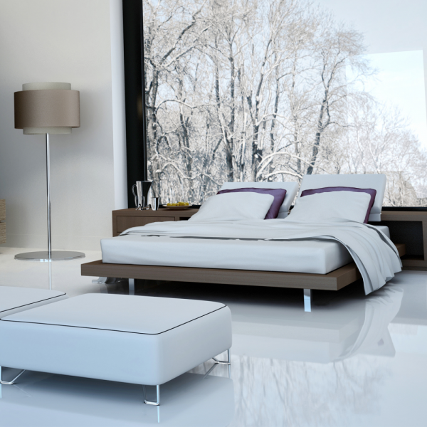 Falquon Flooring High Gloss Flat Edge White Laminate
