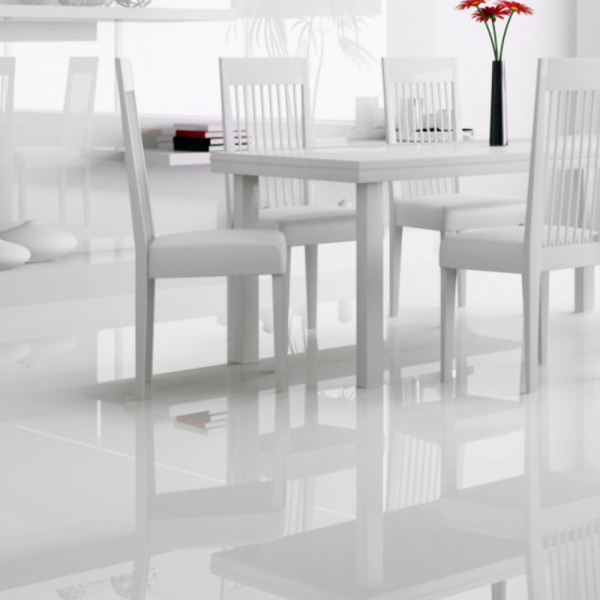 Falquon Flooring High Gloss Flat Edge White Laminate