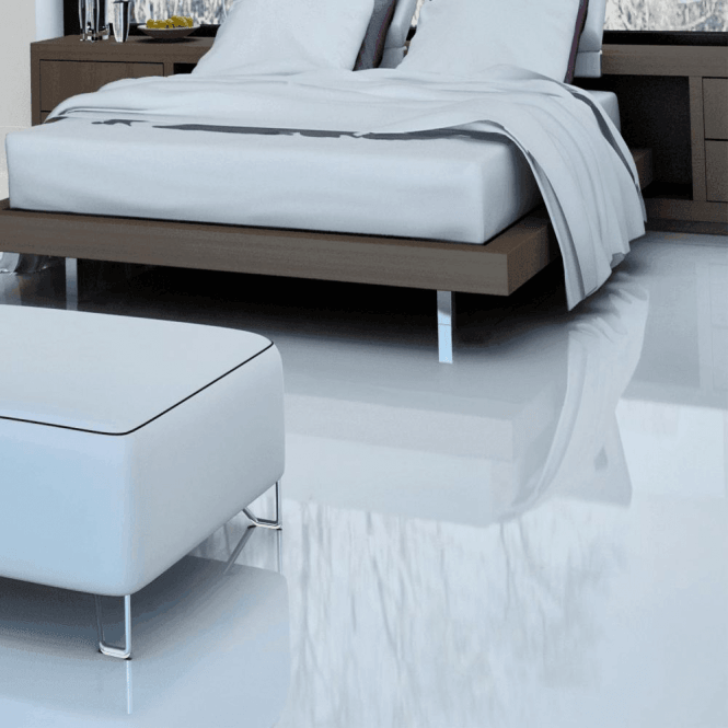 Falquon Flooring High Gloss MAX 8mm White Laminate Flooring (C500)