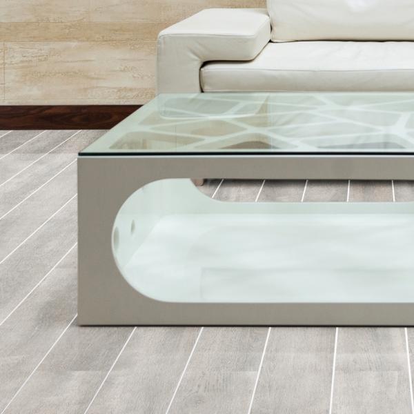 Falquon Flooring High Gloss White Oak With Silver Strip Laminate D4187