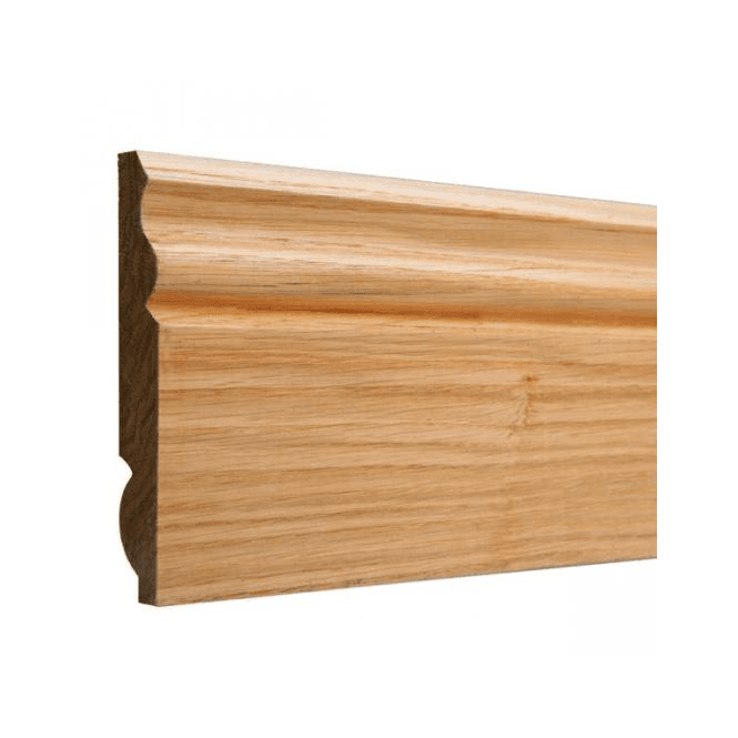 GW Leader American White Oak 25mm x 125mm Dual Purpose Torus/Ogee Skirting Board