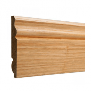 American White Oak 25mm x 125mm Dual Purpose Torus/Ogee Skirting Board