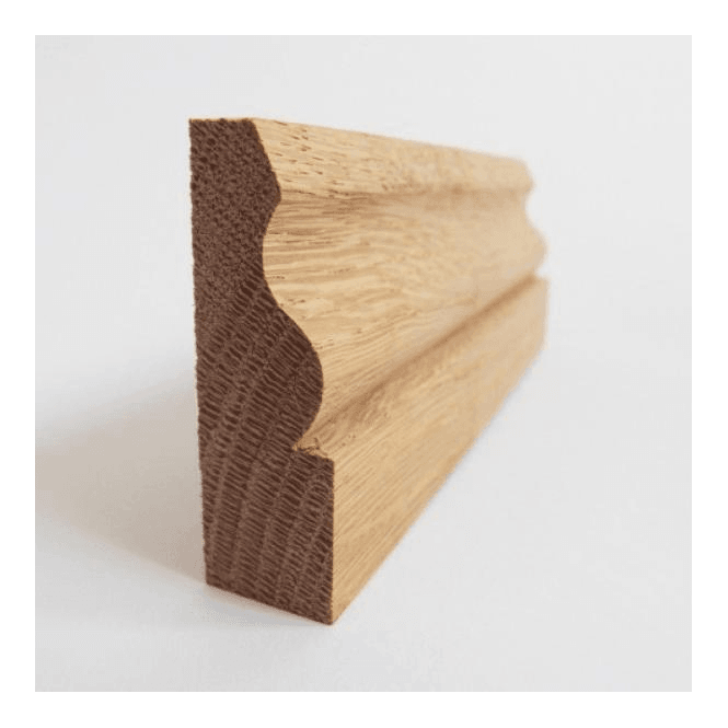 GW Leader American White Oak 25mm x 75mm Ogee Skirting Board / Architrave