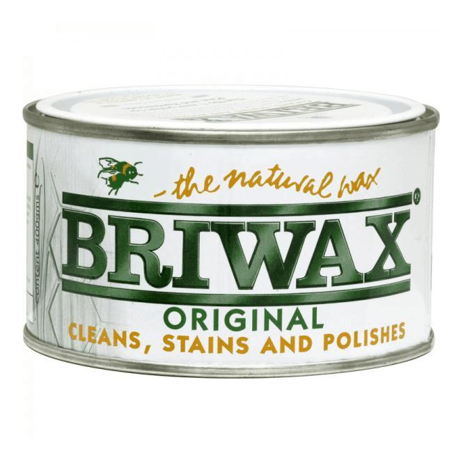 GW Leader Briwax Original Medium Brown Wax Polish 400g