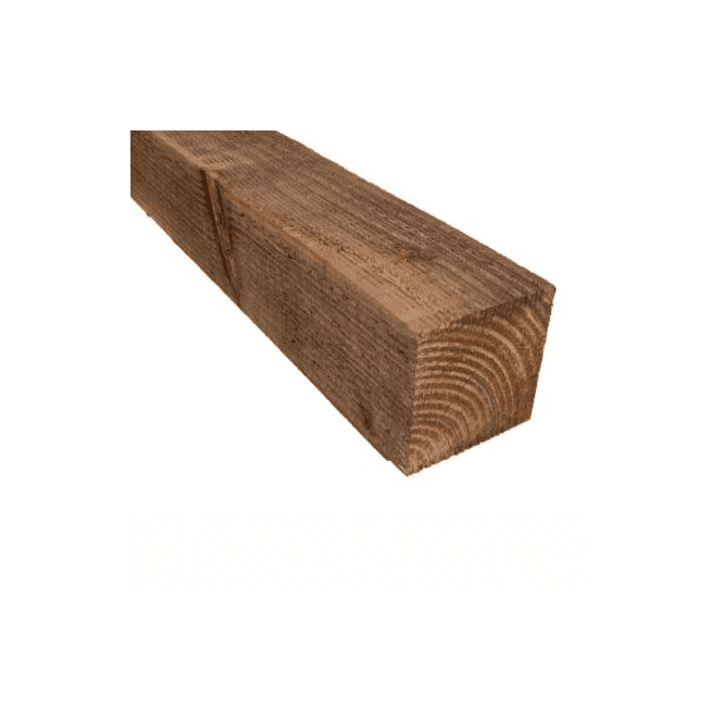 GW Leader Brown Treated Fence Posts 3m