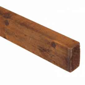 Brown Treated Fence Rails 75mm x 32mm x 3.6m