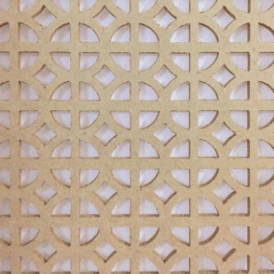 Decorative Sircross MDF Radiator Screen 3mm x 610mm X 1830mm