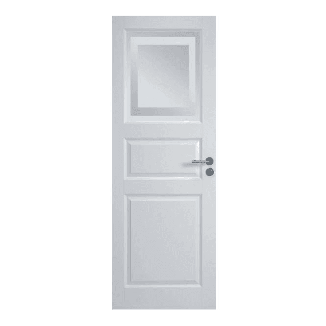 GW Leader Euro Internal White Primed Door with Obscure Glass