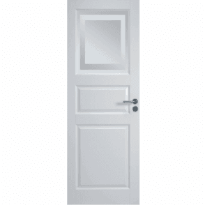 Euro Internal White Primed Door with Obscure Glass