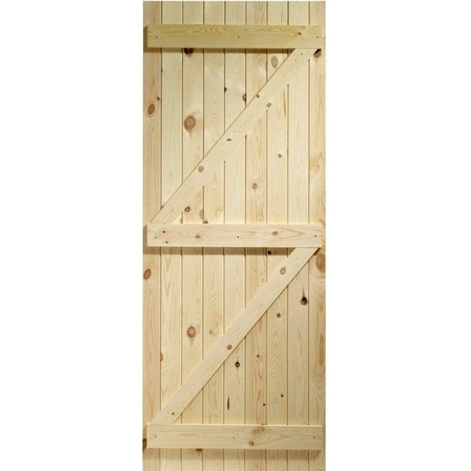 GW Leader External Knotty Pine Un-finished Ledged and Braced Gate