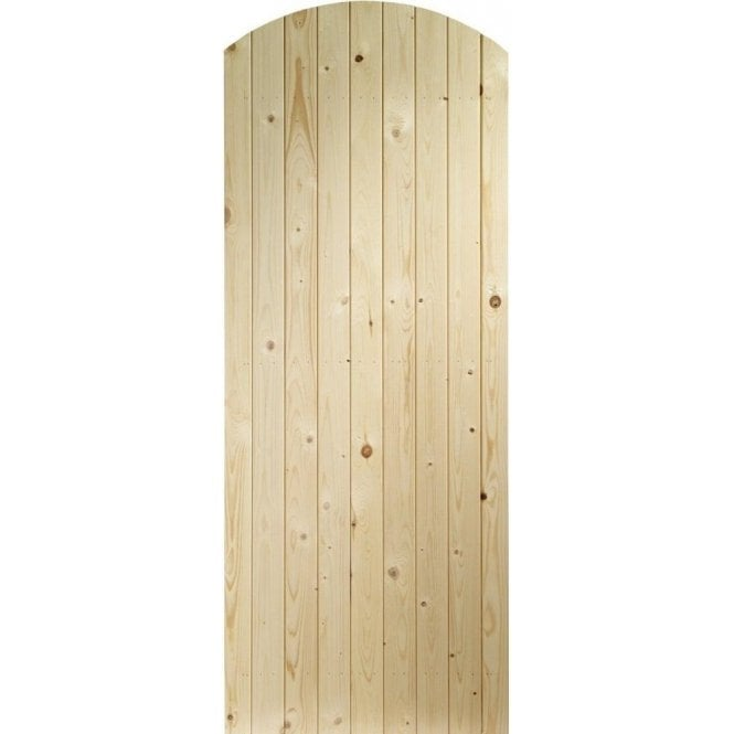 GW Leader External Pine Un-finished Arch Top Garden Gate