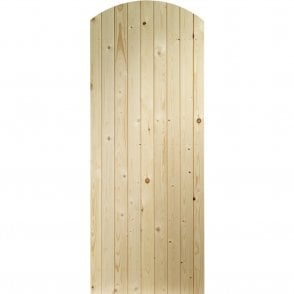 External Pine Un-finished Arch Top Garden Gate