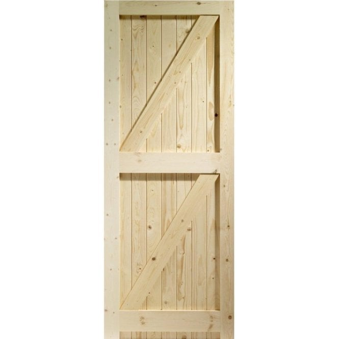 GW Leader External Pine Un-finished Framed Ledged and Braced Garden Gate