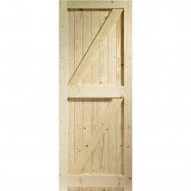 External Pine Un-finished Framed Ledged and Braced Garden Gate