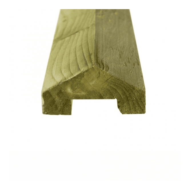 GW Leader Green Treated Fence Capping 45mm x 35mm x 3.6m