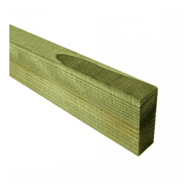 GW Leader Green Treated Fence Rails 75mm x 32mm x 3.6m