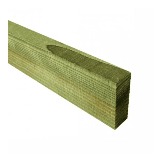 GW Leader Green Treated Fence Rails 75mm x 32mm x 3.6m