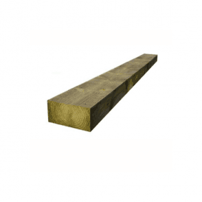 Green Treated Railway Sleepers 200mm x 100mm x 2.4m