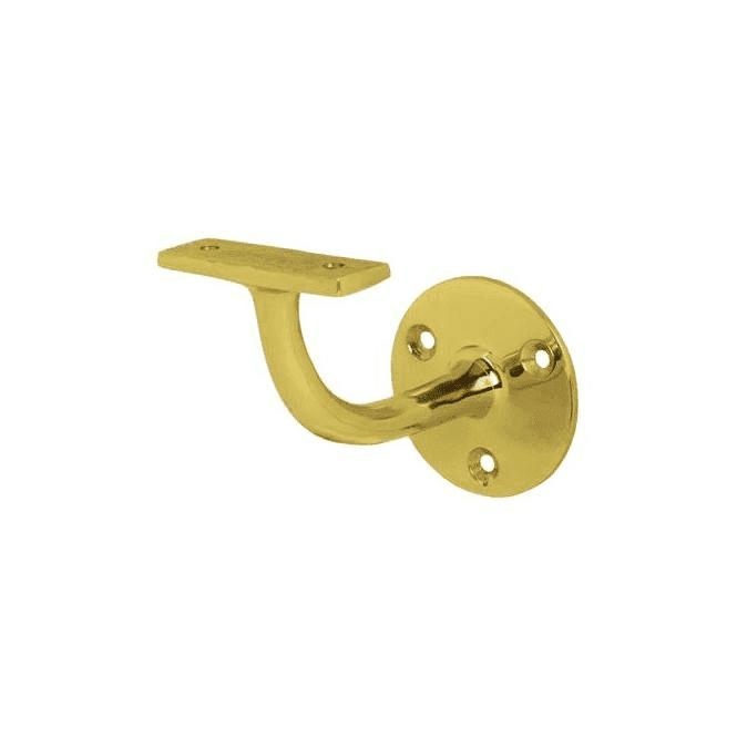 GW Leader Handrail Bracket Polished Brass