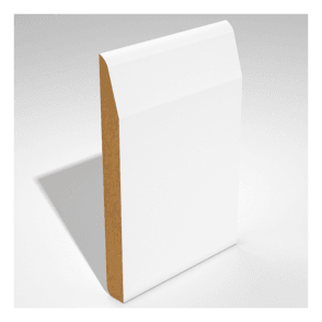 MDF 18mm x 119mm Pre-Primed Dual Purpose Chamfer/Round Edge Skirting Board