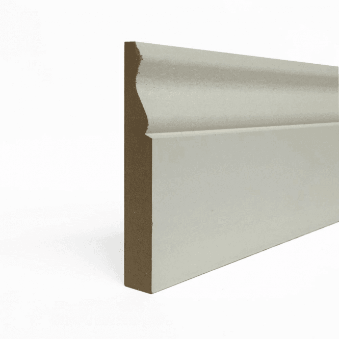 GW Leader MDF 18mm x 119mm Pre-Primed Ogee Skirting Board