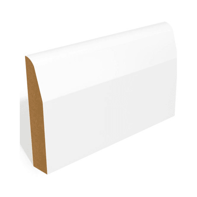 GW Leader MDF 18mm x 69mm Pre-Primed Chamfer and Round Skirting Board