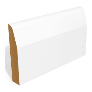 MDF 18mm x 69mm Pre-Primed Chamfer and Round Skirting Board