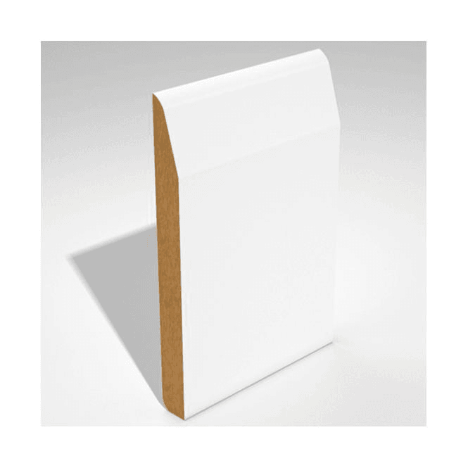 GW Leader MDF 25mm x 125mm Pre-Primed Dual Purpose Chamfer/Round Edge Skirting Board