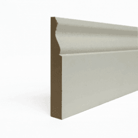 MDF 25mm x 125mm Pre-Primed Ogee Skirting Board