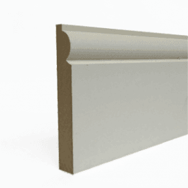 MDF 25mm x 125mm Pre-Primed Torus Skirting Board