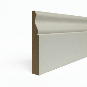 MDF 25mm x 175mm Pre-Primed Ogee Skirting Board