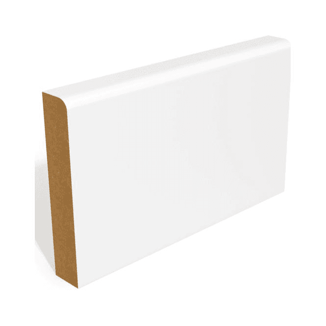GW Leader MDF 25mm x 75mm Pre-Primed Pencil Round Edge Skirting Board